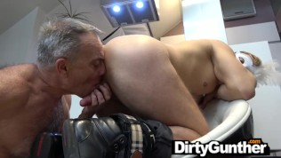 Filthy Old Gunther Sucking a Masked Twink